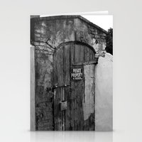 Private Property Stationery Cards