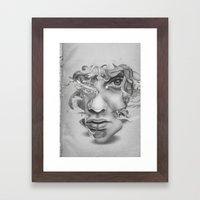 Real vs Surreal Framed Art Print