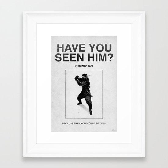 Have you seen him? Framed Art Print