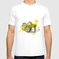 Collect Moments White SMALL Mens Fitted Tee