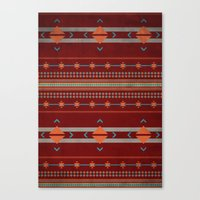 Efinity Pattern Red Canvas Print
