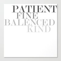 Skinny Love Typography Canvas Print