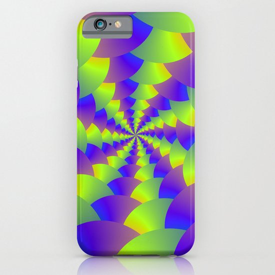 Yellow and Purple Spiral iPhone & iPod Case