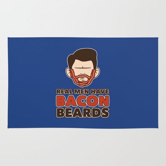 Bacon Beard (men's version) Area & Throw Rug