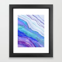 AGATE Inspired Watercolor Abstract 07 Framed Art Print