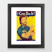 He can Framed Art Print