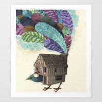 Birdhouse Revisited Art Print