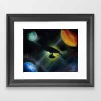 Boldly Go! Framed Art Print
