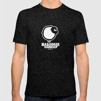 Baaadass the Sheep Mens Fitted Tee Tri-Black SMALL