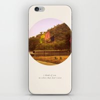 i think of you in colors that don't exist iPhone & iPod Skin