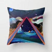 Frozen Oceans Throw Pillow
