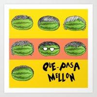 Mellon EP Cover Art - ¿… Art Print