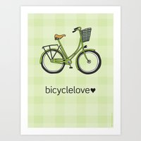 Bicyclelove, No. 1 Art Print