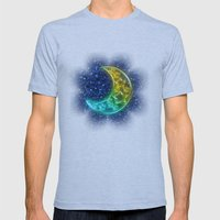 Moon Night Mens Fitted Tee Athletic Blue SMALL