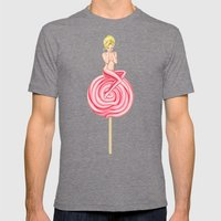Lollipop Girl Mens Fitted Tee Tri-Grey SMALL