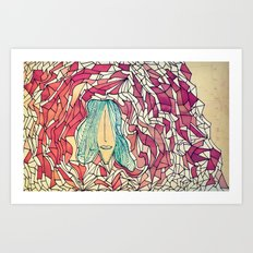 I long for the mountains. Art Print