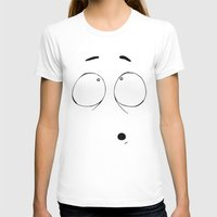Udi (Three) Womens Fitted Tee White SMALL