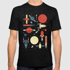 Space Odyssey Mens Fitted Tee Tri-Black SMALL
