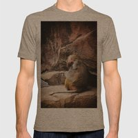 Monkey Business Mens Fitted Tee Tri-Coffee SMALL