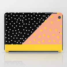 Peach Fuzz Black Polka Dot /// www.pencilmeinstationery.com iPad Case