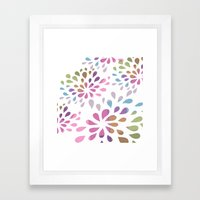 Colourful drops Framed Art Print