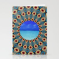 mandala sea Stationery Cards