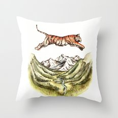 Tiger Leaping Gorge Throw Pillow