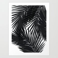 Palms Black Art Print