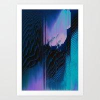 Lavender Oil Art Print