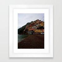 Positano: Amalfi Coast, Italy Framed Art Print