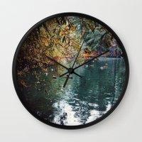Heavenly Pond In Frankli… Wall Clock