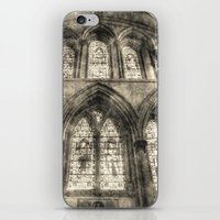 Rochester Cathedral Stained Glass Windows Vintage iPhone & iPod Skin