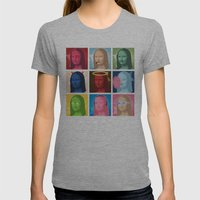 Marilyn Lisa Womens Fitted Tee Athletic Grey SMALL