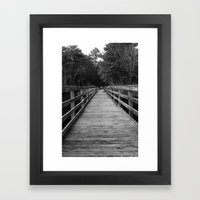 Pier Framed Art Print