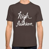 HIGH FASHION II Mens Fitted Tee Brown SMALL