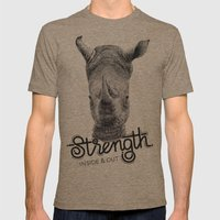 Rhino Strength Mens Fitted Tee Tri-Coffee SMALL