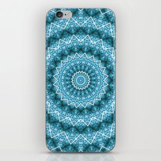 Light Blue Kaleidoscope / Mandala iPhone & iPod Skin