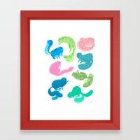 United Cats Of Colour Framed Art Print
