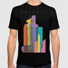 Shapes of Seattle accurate to scale Black SMALL Mens Fitted Tee