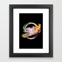 Stoked Cosmos Framed Art Print
