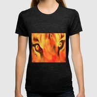 The eyes have it Womens Fitted Tee Tri-Black SMALL
