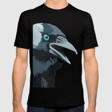 Corvus monedula has a stinking attitude Mens Fitted Tee Black SMALL