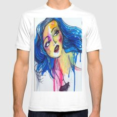 blue haired girl Mens Fitted Tee SMALL White