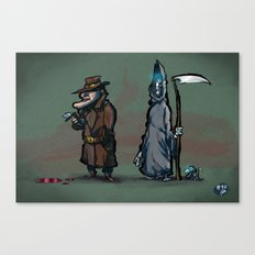 #40 Discworld Noir: Lewton, Death and Death of Rats Canvas Print