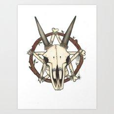 Pentaskull Art Print