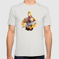 Polygon Heroes - He-Man Mens Fitted Tee Silver SMALL