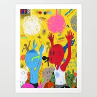 Party Time Yeah!!! Art Print