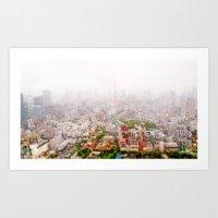 Rainy Tokyo Art Print