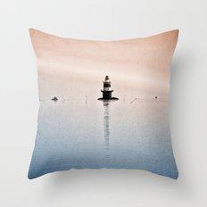 Fishing Near The Lighthouse Throw Pillow