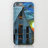 iPhone & iPod Case featuring Sunset Behind the barn by maggs326